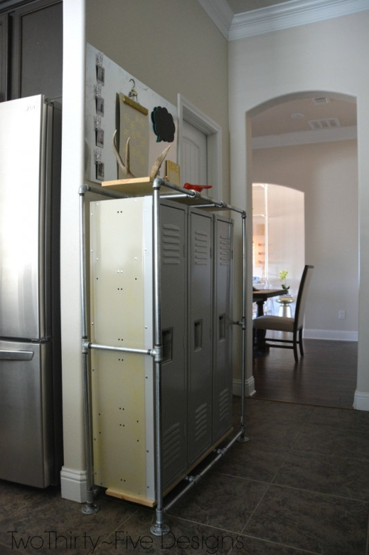 mudroom locker system in entryway, Two Thirty Five Designs on Remodelaholic