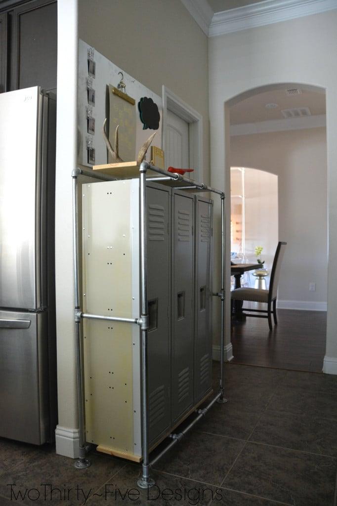 Remodelaholic industrial style mudroom locker system for Mudroom locker design plans
