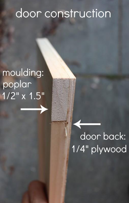 over fridge cabinet door construction