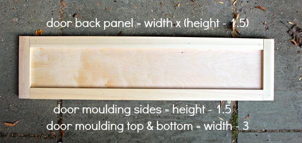over fridge cabinet door dimensions