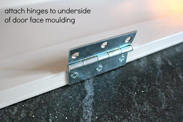 over fridge cabinet hinges