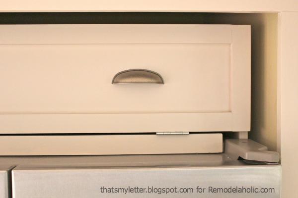 over fridge cabinet pull