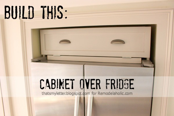over fridge cabinet title