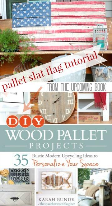 DIY pallet slat flag tutorial | The Space Between on Remodelaholic.com #patriotic #reclaimedwood