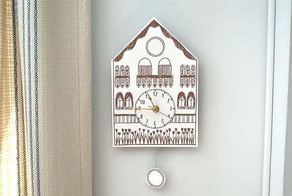 paper cuckoo clock