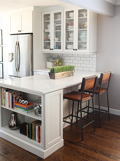 Remodelaholic popular kitchen layouts and how to use them for Peninsula kitchen layout