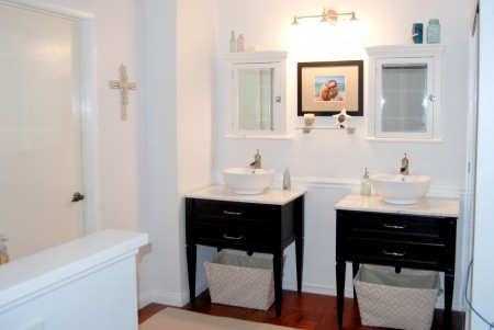 twin vanity bathroom remodel