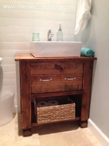Build A Floating Vanity From Reclaimed Wood