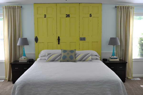 yellow-door-headboard-bloombety