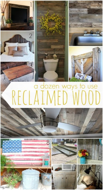 12 Ways to Use Reclaimed and Pallet Wood on Remodelaholic