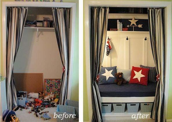 Closet Turned Toy Storage