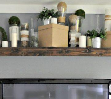Turn an Ikea shelf into a Pottery Barn Ledge