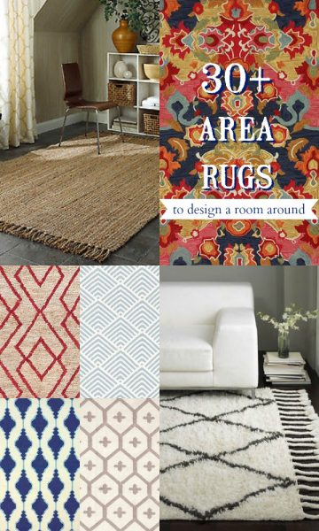 Area Rugs to Design a Room Around by Remodelaholic