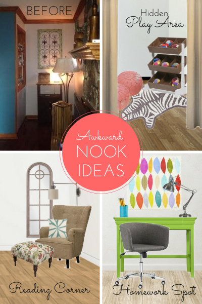 3 Ways to Make the Most of an Awkward Nook | remodelaholic.com