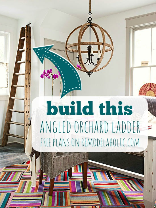 Build your own decorative orchard ladder with plans from Remodelaholic.com