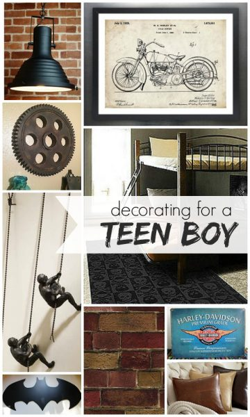 Decorating for a Teen Boy by Remodelaholic