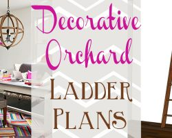 Decorative orchard ladder plans