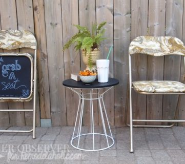 From Evergreen to Ever-fabulous! – Folding Chair Makeover