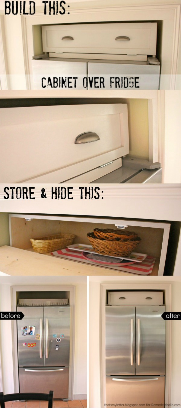 Build An Over The Fridge Cabinet! Tutorial From Thatu0027s My Letter For  Remodelaholic