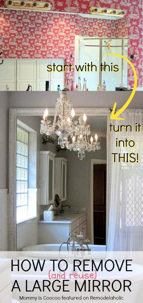 remodelaholic how to remove and reuse a large builder. Black Bedroom Furniture Sets. Home Design Ideas
