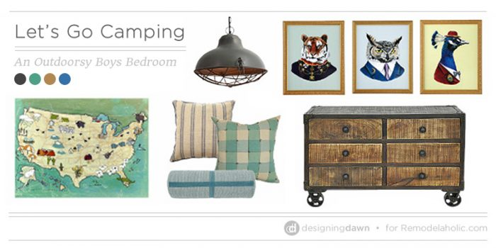 Let's Go Camping – Inspiration for an Outdoorsy Boys Bedroom