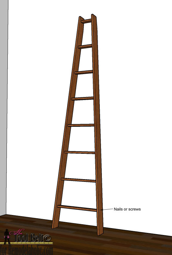 Remodelaholic   Decorative Orchard Ladder Building Plan