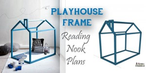 Playhouse frame reading nook free plans on remodelaholic.com