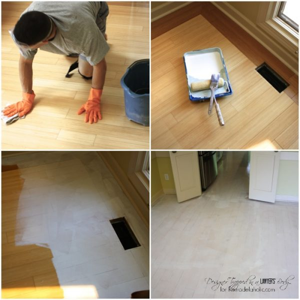 WOW! Paint and stencil your kitchen floors for high impact on a tiny budget! Full tutorial by Designer Trapped in a Lawyer's Body for Remodelaholic.com!