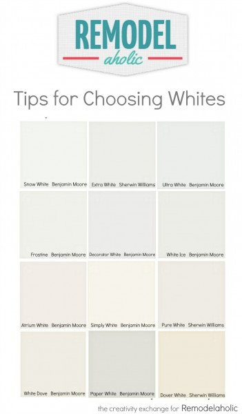 Quick Tricks for Choosing the Perfect White Paint Color. Remodelaholic