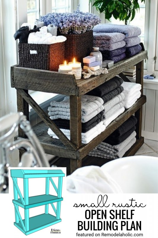 Small Rustic Shelf Building Plan At Remodelaholic.com