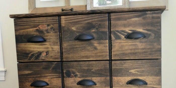 Ikea Tarva Dresser to Pottery Barn Apothecary Cabinet Hack