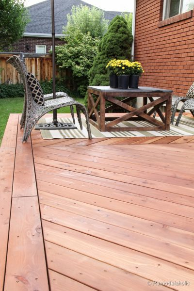Fall Cleaning Projects: Clean and re-stain the deck