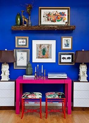 BOLD blue walls