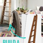 Build A Decorative DIY Ladder, Vintage Wood Orchard Ladder, Remodelaholic