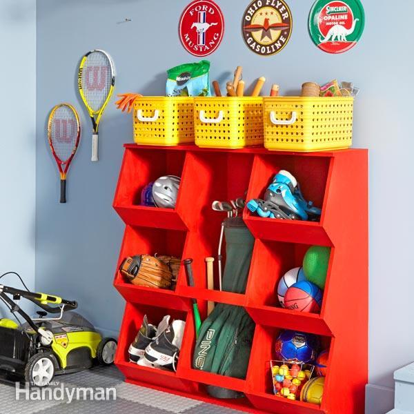 build toy storage cubbies, Family Handyman