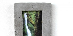 concrete picture frame feature