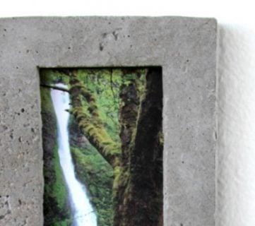 DIY: Concrete Picture Frame
