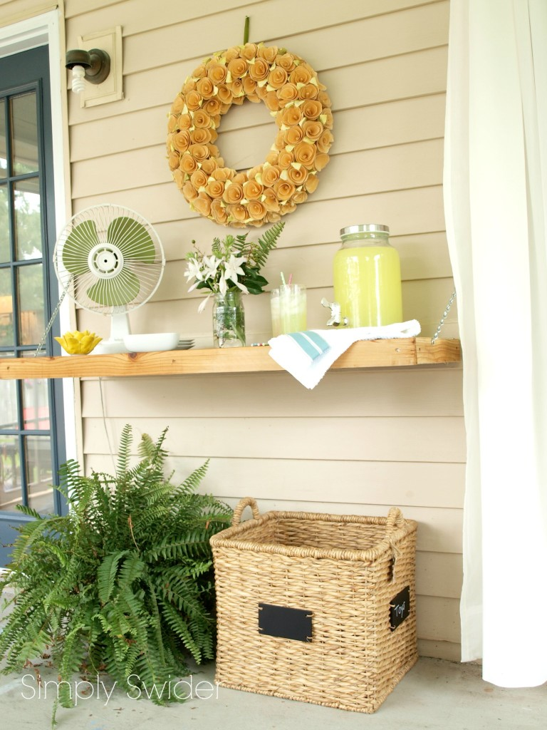 How To Build A Mounted Outdoor Buffet Table By Stephanie From Simply Swider