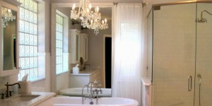 feature white master bathroom makeover, Mommy is Coocoo on Remodelaholic