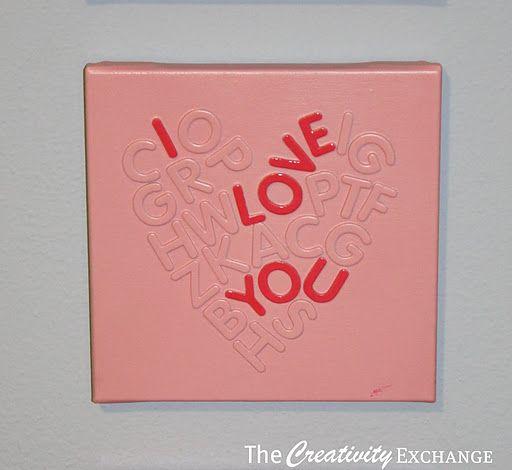 Lovely foam letter wall art