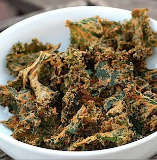 "Spicy ""Cheesy"" Kale Chips"