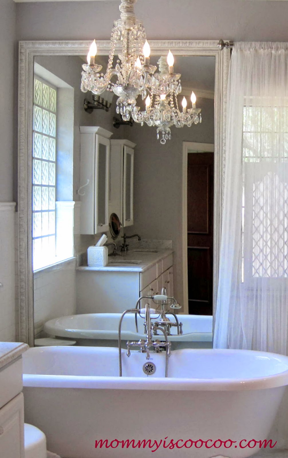 Beautiful How to remove a large builder grade vanity mirror Mommy is Coocoo on Remodelaholic