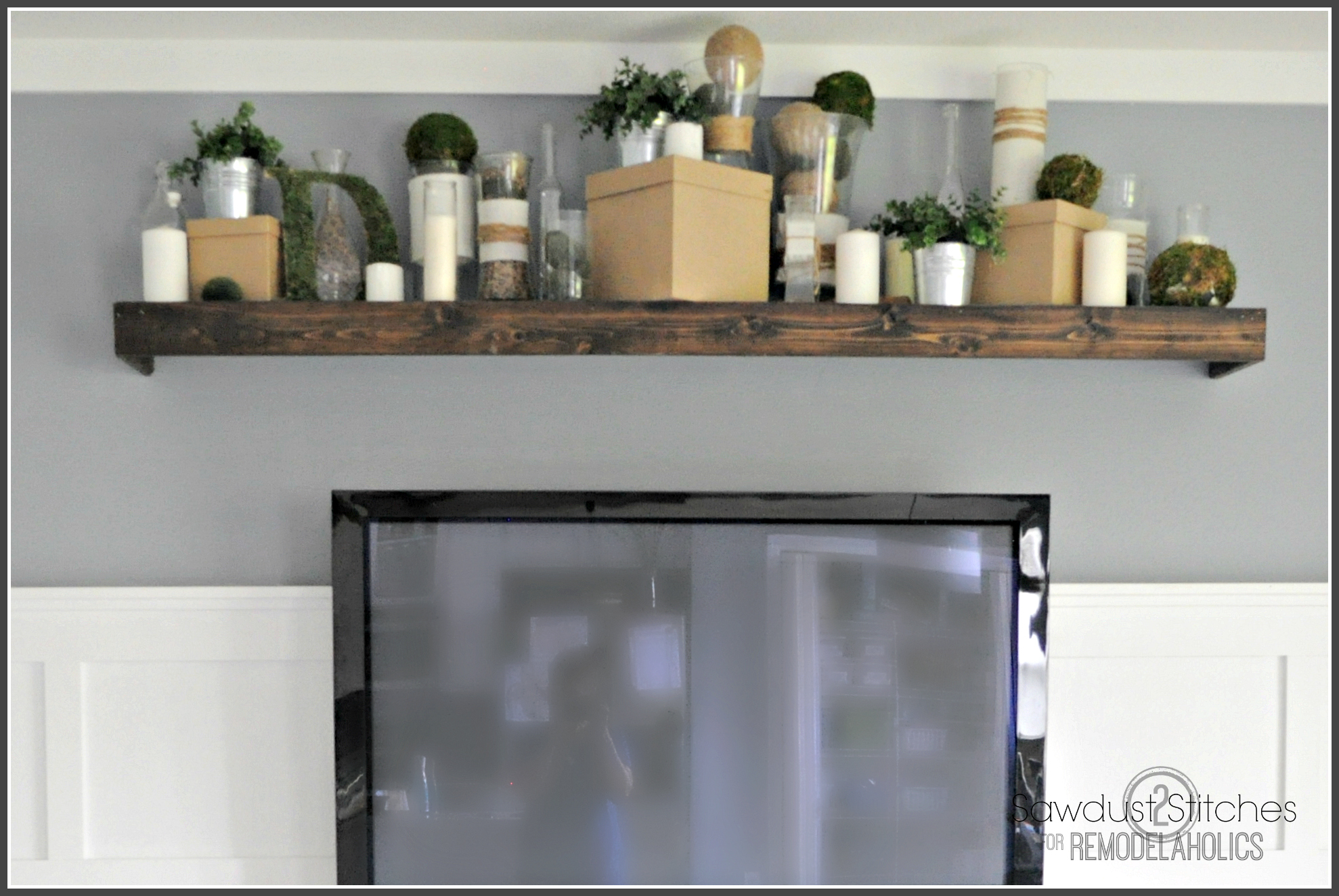remodelaholic turn an ikea shelf into a pottery barn ledge