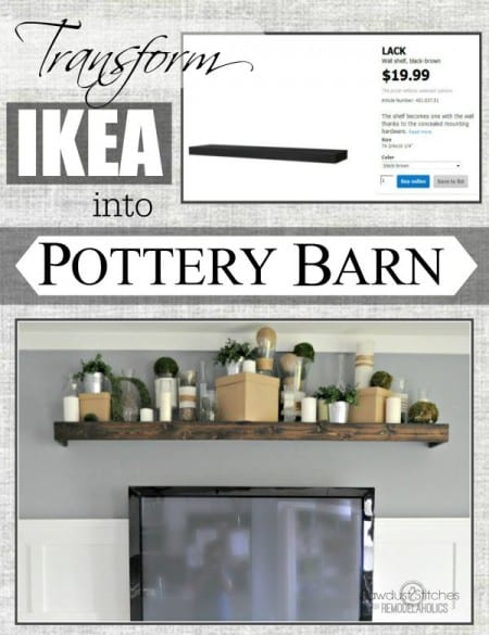 Ikea Hack: Customizing a floating Lack shelfI