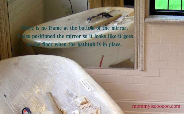 mirror behind tub, Mommy is Coocoo on Remodelaholic