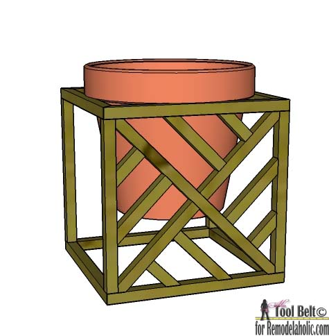 Get 4 different looks with 1 modern plant stand. Modern cube plant stand plans on Remodelaholic.com