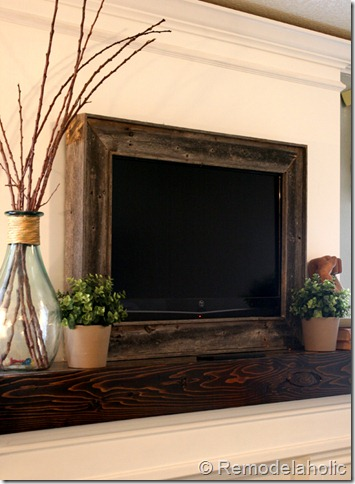 reclaimed wood tv frame