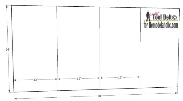 Free DIY plans to build an easy and stylish small shelf on Remodelaholic.com