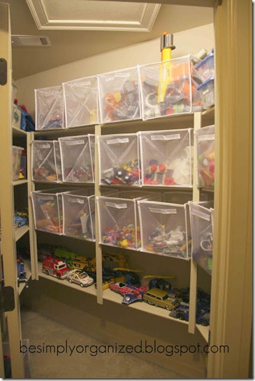 toy closet, via Remodelaholic