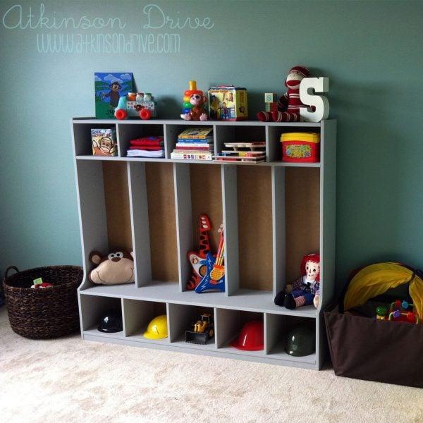 toy storage cubbies, Atkinson Drive